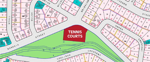 O'Connor Tennis Club location map